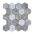 "Hex Honeycomb, Bardigliom 12""x12"""