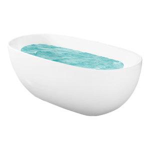 "67"" Europe Style White Acrylic Free Standing Bathtub Soaking Spa"