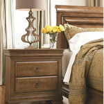 Universal Furniture - Nightstand - Three drawers including one hidden in the top rail;  Jewelry tray insert; Lift lid with power outlet