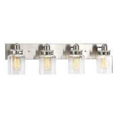 "Progress Lighting P300048 Calhoun 4 Light 30-1/4""W Bathroom - Nickel"