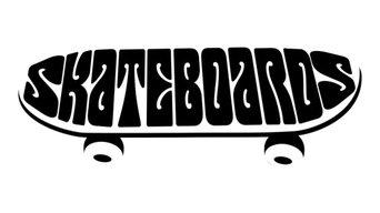 Skateboards Wall Sticker, 146x50 cm