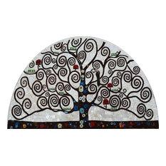 "Mosaic Art -Tree Of Life Spirals, 31""x47"""