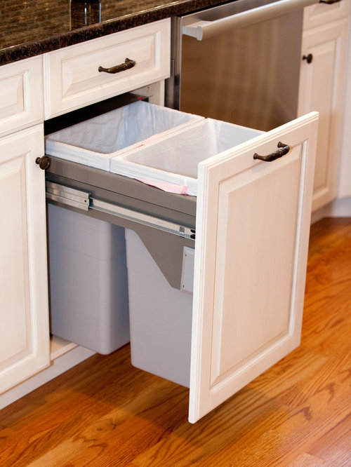 trash can for kitchen cabinet door wastebasket - monsterlune