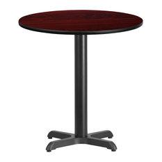 Flash Furniture 24'' Round Mahogany Laminate Table