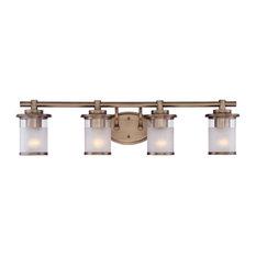 brass bathroom light. Designers Fountain - Essence 4-Light Bathroom Vanity Lights, Old Satin Brass Light A
