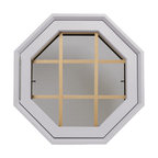 Rambler Breeze 4 Season Poly Window, Grille, Hinged Left, White, Low-E Insulated