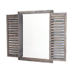 Rusic Shuttered Mirror With Wooden Frame