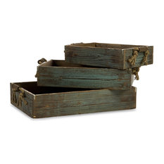 Northfork 3-Piece Wood Tray Set