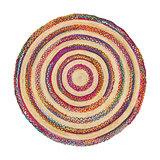 Ambala Jute Chindi Round Rug - Small
