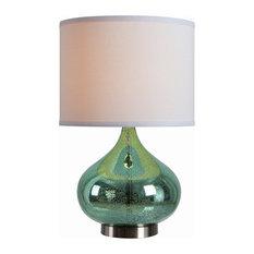 Annalie  Accent Lamp, Green Antique Mercury Glass