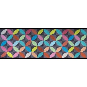 Easy Clean Grey Star Doormat, Large