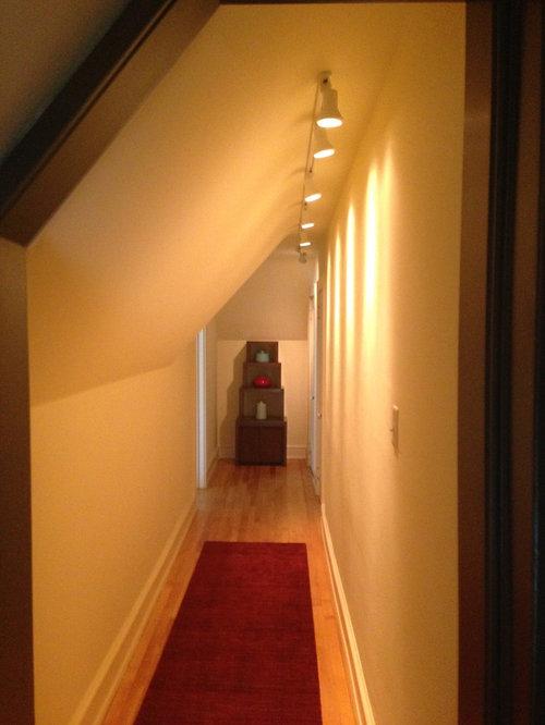 Sloped Ceiling Hallway Second Floor