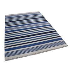 Ocean Daze Rug, Navy Blue, Green and Denim Blue, 200x300 cm