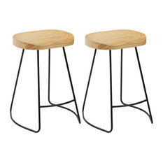 Shawn Saddle Counter Stools Set Of 2 24-inch