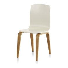 Elche White Wooden Oak Chair, Set of 4