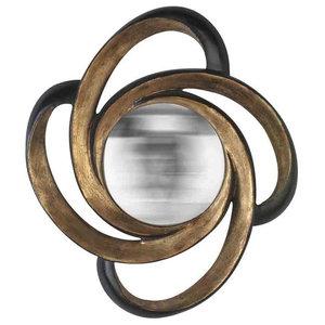 EMDE Round Buckle Mirror, Gold