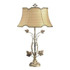 CHELSEA HOUSE Lamp Oak Leaves 1-Light Multi Olive Green Shade