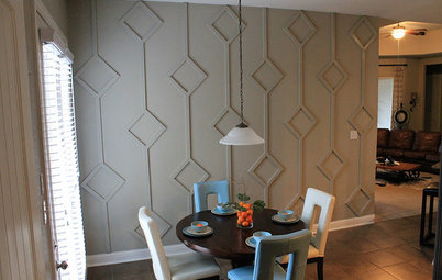 DIY: Bold 3D Dining Room Wall