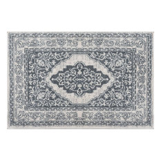 Kerr Traditional Oriental Gray Scatter Mat Rug, 2' x 3'