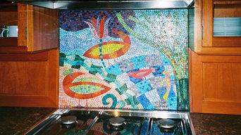 Mosaic backsplash-Family of Five
