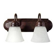 2-Lights Vanity, Dark Brown