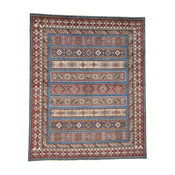 "Special Kazak with Khorjin Design Hand-Knotted Pure Wool Rug , 8'2""x9'10"""