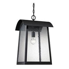 Piggottshill Lane - One Light Outdoor Hanging Pendant  Matte Black Finish with
