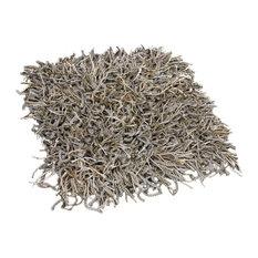 10' RD Custom Carpet Area Rug 68.2 oz Shag, Bling Antique Tin
