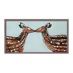"""Deer Love"" Mini Framed Canvas by Eli Halpin"