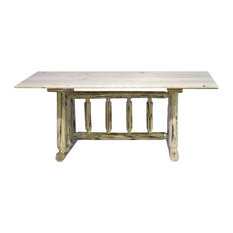 Montana Woodworks   Montana Woodworks Trestle Based Dining Table In Ready  To Finish   Dining Tables