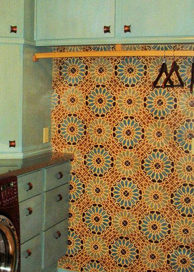 Mediterranean Laundry Room by Filmore Clark