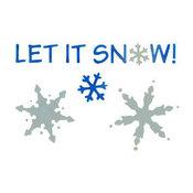 Let it Snow Craft Stencil