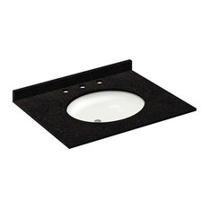31x22 Absolute Black Granite Vanity Countertops, 8 Faucet Spread