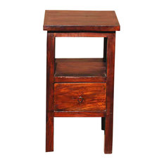 Memphis Solid Wood 1 Drawer Telephone Lamp End Table
