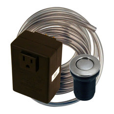 Disposal Air Switch and Single Outlet Control Box, Satin Nickel
