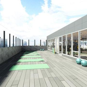 Rooftop gym club
