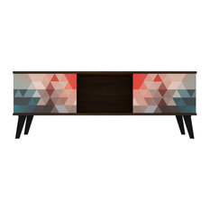 Doyers 53-inch TV Stand Multi Color Red And Blue