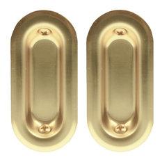 "Johnson Prod. 2"" Brass Oval Pull 35-3PPK2 10-Pack"