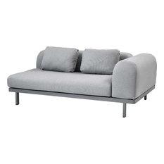 Space 2-SEATER Sofa - Light Gray, Aluminum