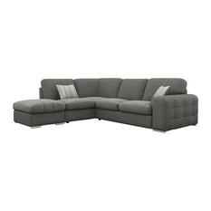 Riga Corner Sofa, Slate Grey, Left Facing