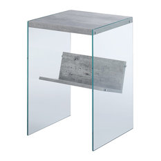 MOD   Gaia Modern End Table, Faux Birch   Side Tables And End Tables