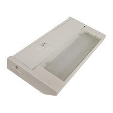 "120V Dimmable LED Under Cabinet Metal Light Bar, AQUC, White, 8"""
