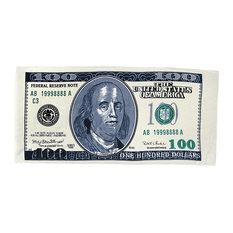 100 Dollar Bill Velour Beach Towel 30 In. X 60 In.