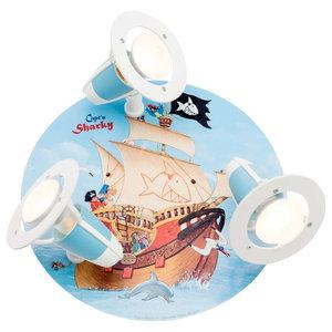 Circular Capt'n Sharky Ceiling Light