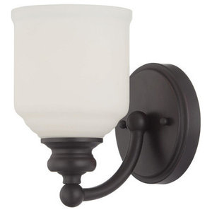 Savoy House Lighting Melrose English Bronze Transitional Sconce w/ 1 Light 75W