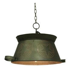 Colander Punched Star Vintage Country Metal Hanging Pendant Lamp