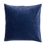 Navy Velvet Cushion, Hypo Allergenic Microfibre