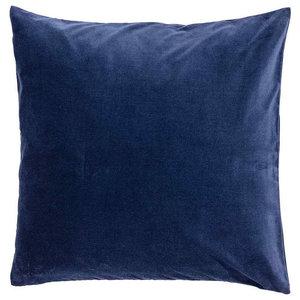 Navy Velvet Cushion, Feather
