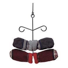 Black Iron Glove Mitten Dryer Rack Holder Wall/Ceiling Hung 6  Rungs