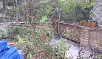 Ricostruzione del muro sul terrazzo.